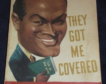 "1941 ""They Got Me Covered"" by Bob Hope First Edition Autobiography with Photos Vintage Book Hollywood Comedian Biography Humor Life Story"