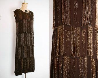 1920s Dress / 20s Beaded Dress / Rare 20s Dress / French 1920s Dress