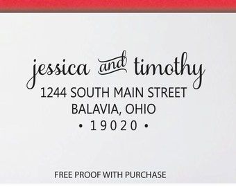 Return Address Stamp, Address Stamp, Wedding Address Stamp, Custom Address Stamp - 8N