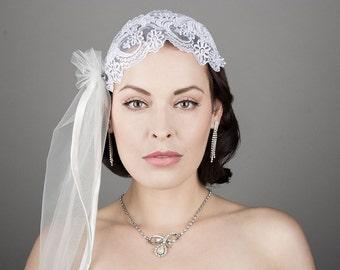 handmade headpiece with veil