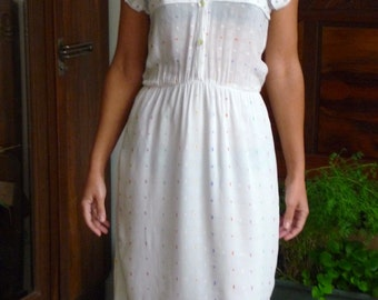 Robe broderies vintage 80s Taille 36-38