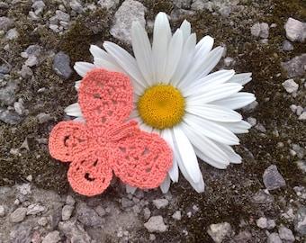 Crochet butterflies Crocheted applique Butterfly applique
