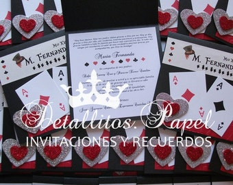 Invitations, Wedding Invitation, Invitation Handmade Poker, poker Poker Sweet 16 Invitations, Wedding Invitations Poker poker