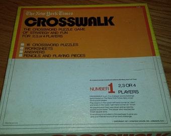 Vintage New York Times Crosswalk Work Challenge Game 1970s  D368-2