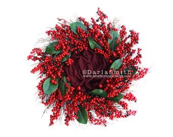 Digital Wreath Photography Backdrop Download Christmas Holiday Newborn Photography Backdrop Wreath Prop
