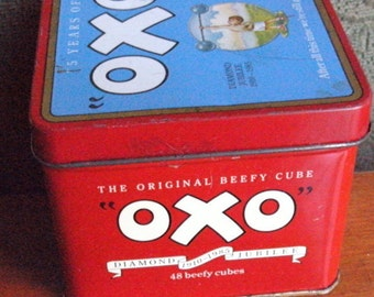 1985 DIAMOND JUBILEE ( celebrating 75 years - 1910 - 1985 ) OXO tin- Original vintage special edition tin - One owner