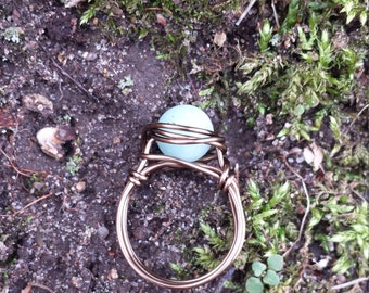 Amazonite Wire - Wrapped Ring