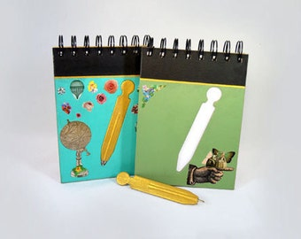 "15% OFF Anniversary ~ notebooks of notes with pen included in the top ""World map"" & ""Meninas"", notes, annotations, office supplies"