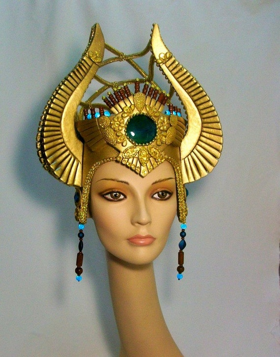 Egyptian Headdress Burning man Fantasy Fest by RMQuintiroli