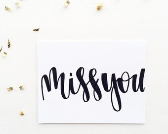 Miss You Card - Long Distance Card - Love Card
