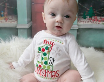 My first Christmas. Christmas Body Suit