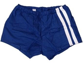 Vintage Ex-Army Shorts NEW navy blue genuine 1980s military PT hot pants retro sports gym