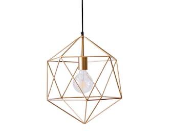 metal pendant lighting fixtures. gold geometric pendant light chandelier handmade hanging polyhedron industrial lighting modern metal cage ceiling lamp fixtures i