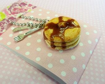 Pancake stack necklace