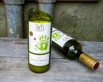 Scented Candle from Upcycled Kris Pinot Grigio Wine Bottle - Fun Decor or Gift Idea!