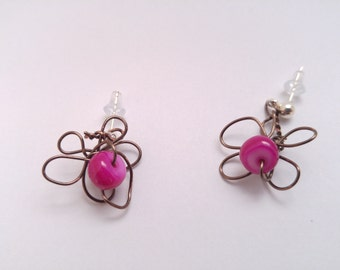 Flower Wire-Wrapped Earrings