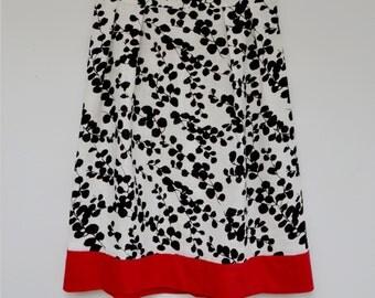 Linen A line skirt