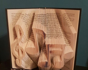 Treble clef and notes bookfolding pattern 654 pages