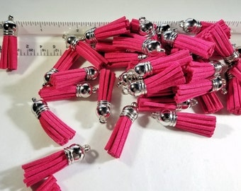 Tassel - Tassel Charms - 10 Small Tassels - Very Pink Tassels - Jewelry Tassel - Key Chain Tassels - Decorative Tassels for Crafts - TC-S046