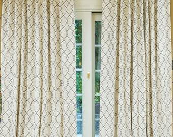 Geometric Curtains Etsy