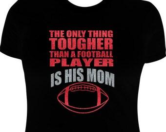Football Mom Shirts-Rhinestone-Football shirt-Football Iron on Transfer/Applique
