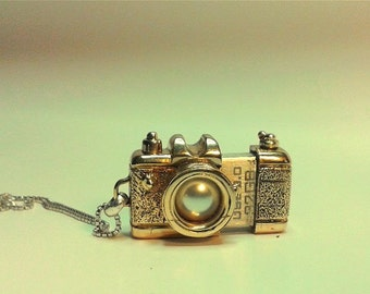 Pendant camera usb 32 gb  bronze silver pearl