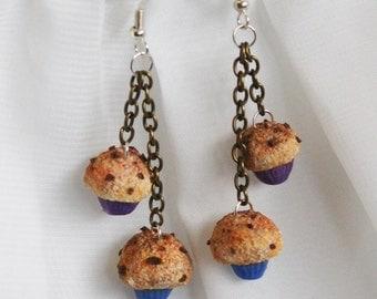 Handmade muffin earrings