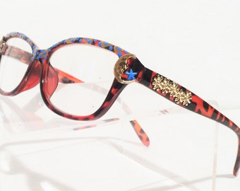 Sun Moon and Stars Reading Glasses, Funky, +1.25, Women, Mod, Retro