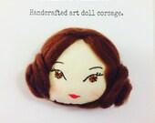 Princess Leia. Doll face corsage.