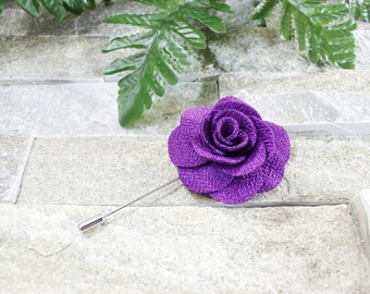 Purple lapel flower. Lapel flower. Lapel pin. Flower lapel. Man lapel pin. Brooch. Flower lapel pin. Mens flower lapel. Lapel pins men.
