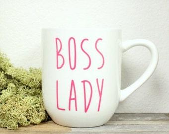 Boss Lady Mug - Office Mug, Office Humor, 12 oz Mug