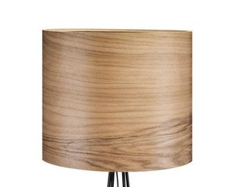Wood Floor Lamp OLAV - Modern Lamp - Design Floor Lamp - Walnut Veneer Lamp shade - Modern Interior Design - Nature Meets Industrial