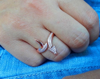 Sterling Silver Ring Silver Arrow Ring Rings Womens Rings Rings for Women Silver Rings for Women Jewelry for Teens Rings for Teens Rings