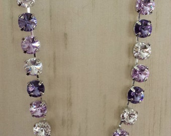 Purple Haze 11mm Swarovski crystal necklace