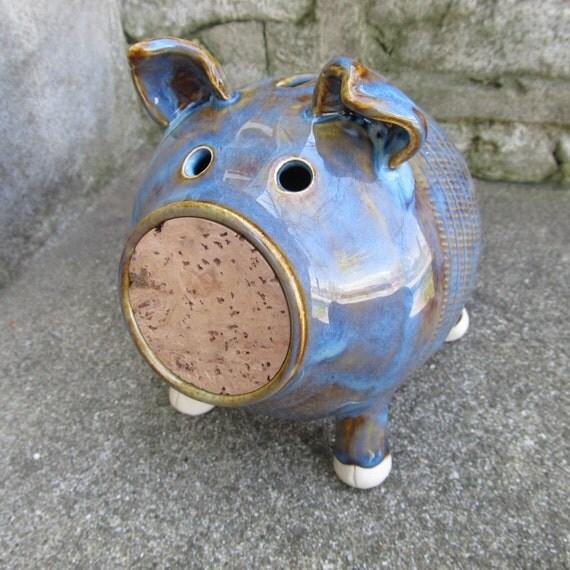 Seconds sale ceramic piggy bank handmade piggy by for Handmade coin bank