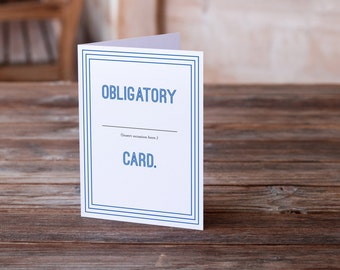 Funny Birthday Card | Engagement Card | Funny Wedding Card | Funny Divorce Card | New Home Card | Graduation Card | New Job Card | Mad Lib