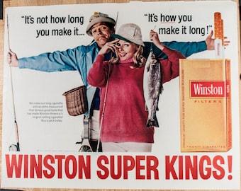 Winston Super Kings Cigarettes Magazine Ad from 1968 (AD68-0406-110)