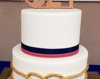 Nautical theme 21st Birthday cake Topper