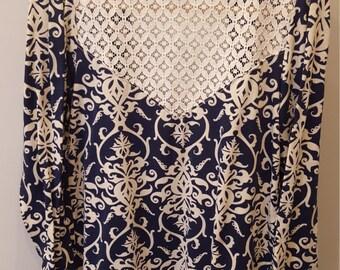 Custom Made Lace Yoke Cardigan