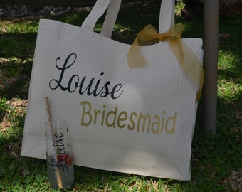 Personalized Bridal Party Bag, Wedding Party Gift, Bachelorette Party Gift, Bride Gift, Wedding Gift, Personalized bag