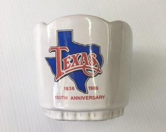 Vintage Frankoma 37 Hexagonal Planter Texas 150th Anniversary