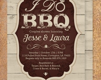 BBQ Themed, Couples Wedding Shower Invite