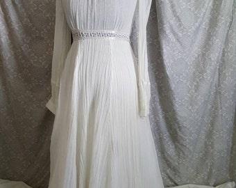 Vintage 1970's Gunne Sax Dress By Jessica w/ Purple Calico Accents