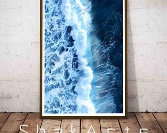 Ocean Coastal Decor, Sea Wave Wall Art, Coastal Print Set, Coastal Decor Ideas, Ocean Wave Wall Art, Ocean Printable Art, Oceane Photography
