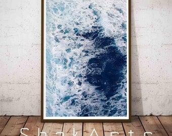 Ocean Waves Print, Beach Decor, Beach Coastal Art, Coastal Wall Art, Beach House Decor, Seascape, Abstract Beach Print, Abstract Art, Waves
