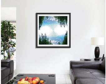 Abstract Forest Print - Framed