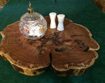 Large Cedar Wood Handcrafted Lazy Susan