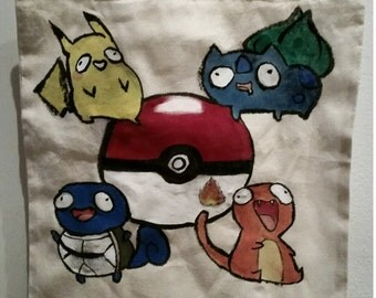 hand-painted bag derpy Pokémon-