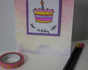 Sweet Birthday Wishes Handmade Card