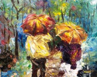 Rainy Days - Oil on Canvas (pallet knife)